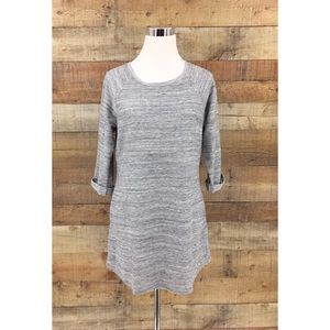 LL Bean Women's Gray 3/4 Sleeve Dress Size Small